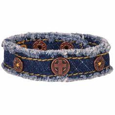 Denim Cross Cherished Canvas Bracelet
