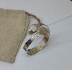 Ø 5,6 cm Silberbesteck-Armreif Armband LA147 von BesteckschmuckBaron auf Etsy