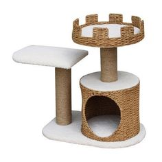 Crown - PetPals 3 Level Recycled Paper Made Cat Furniture, - I Heart My Cats Cat Tree Condo, Cat Condo, Cat Playhouse, Cat Stairs, Cat Activity, Cat Perch, Condo Furniture, Furniture Ideas, Cat Towers