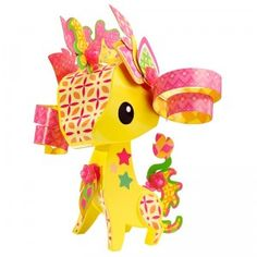 A new activity toy line that lets kids decorate and design plastic AmiGami animals.