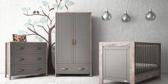 Gentil #grey And #walnut Nursery Set. Nursery Furniture ...