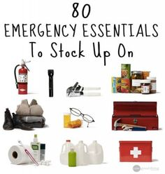 The Homestead Survival | 80 Emergency Essential Supplies To Stock Up On | http://thehomesteadsurvival.com
