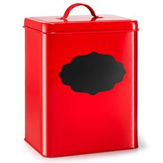 Metal Canister with Chalkboard Front Large