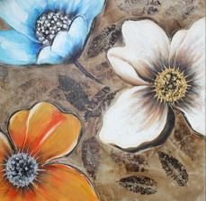 hand painted botanical oil painting, floral wall art