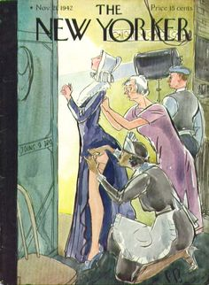 New Yorker cover Perry Barlow dressing back stage 11/21 1942