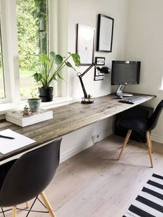 Finest Home Office Design Ideas For Enjoyable Working – Cool Office Space Home Office Bedroom, Home Office Setup, Home Office Space, Home Office Design, Home Office Table, Office Ideas, Workspace Desk, Diy Desk, Desks