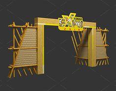 Gate Design Kotawaringin Barat Expo on Behance Exhibition Stall, Exhibition Booth Design, Exhibition Display, Corporate Event Design, Event Branding, Entrance Design, Gate Design, Church Stage Design, Outdoor Signage