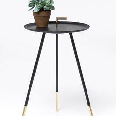 Odkládací stolek Elegance Trampolo Black O38cm