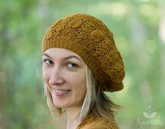 Ravelry: Avellana Beret pattern by Ágnes Kutas-Keresztes Knit Crochet, Crochet Hats, Knitting Patterns, Knitting Ideas, Beret, Couture, Mittens, Ravelry, Knitted Hats
