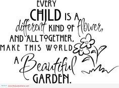 children flower garden