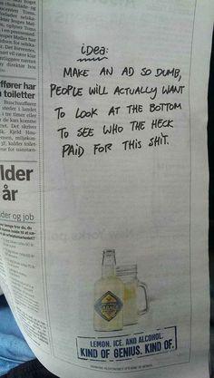 Die Zeitungsanzeige des Tages / newspaper advertisement of the week