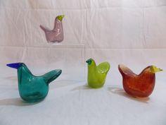 2014, Oiva Toikka, Bird Lovers' Weekend, Museum of Glass, Tacoma, WA, Flycatcher Glass Museum, Glass Birds, Finland, Glass Art, Sculpture, Crafts, Design, Home Decor, Manualidades