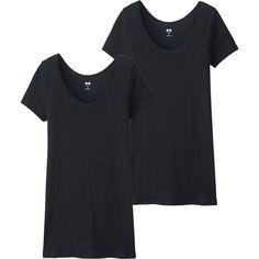 T-Shirt Coton Supima  Col U FEMME