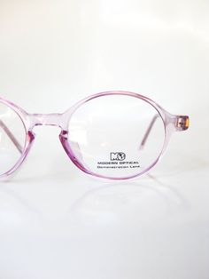 a0a5a39111 Round Optical Frames Womens Lilac Pastel Purple Pink Vintage 1980s Reading Glasses  Eyeglasses Light Lavender Girls Girly 80s Retro