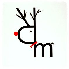Rudolph - type illustration - holiday card idea
