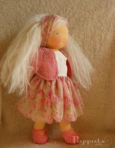 Iva, 15 inch waldorf doll by Puppula, via Flickr