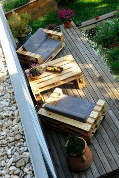 Finde industrialer Balkon, Veranda & Terrasse Designs: Das Sofa Hermann und der Tisch Pepi. Entdecke die schönsten Bilder zur Inspiration für die Gestaltung deines Traumhauses.