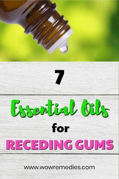 Do you have receding gums? Don't worry, there's help ! Check out these top 7 essential oils for receding gums. Start your remedy now! Essential Oils Guide, Essential Oil Uses, Leiden, Dental Care, What Causes Tooth Decay, Receding Gums, Dental Crowns, Oral Surgery