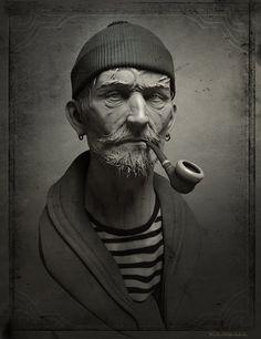 ArtStation - Le vieux marin, Eric Basiletti