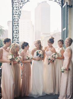 Love blush as a bridesmaid colour!  #bridesmaids #wedding #engaged #pasteldressparty