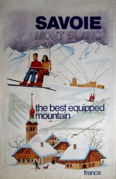vintage ski poster Savoie