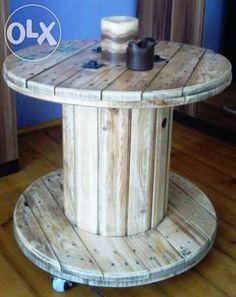 Stolik ze szpuli drewnianej Przemyśl - image 1
