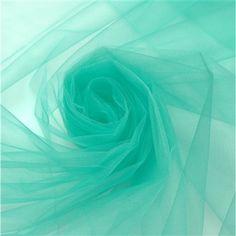 Tecido tule francês cristal verde tiffany