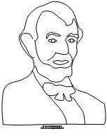 abe lincoln coloring page from making learning fun