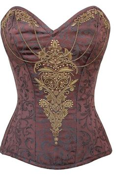 Become a true steampunk matriarch with our huge selection of steampunk corsets. We have everything from authentic corsets to corset dresses and accessories. Costume Steampunk, Viktorianischer Steampunk, Steampunk Couture, Steampunk Clothing, Steampunk Fashion, Victorian Fashion, Victorian Era, Victorian Corset, Steampunk Necklace