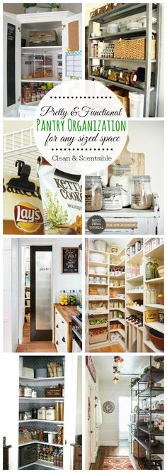 Beautiful ideas for creating an organized pantry space!