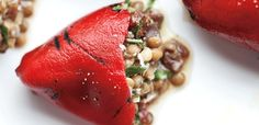 Lentil-Stuffed Piquillo Peppers Recipe |Lunch | alive    maybe still delicious with normal bell peppers?