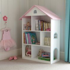Dotty Dolls House Bookcase - Our Dolls House Toddler Bedroom - Create the Look - gltc.co.uk
