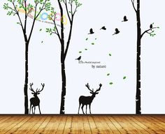 Wall Decal wall Stickers Tree Wall Decals Wall by coocoodecal
