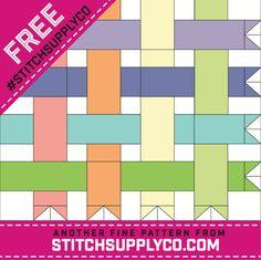 Free mini quilt pattern - Banner Days