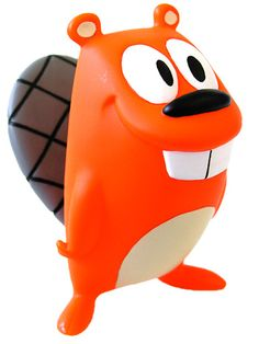"""Jeff Pidgeon  Vinyl Toy Designer - most famous for  """"Happy Beaver"""" Toy  This is the original design which I had - but some thief took it off my desk at work, lesson learned!"""