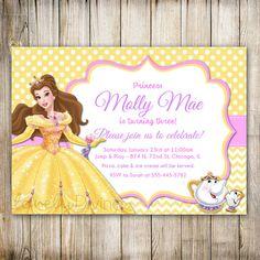 Belleza y la bestia cumpleaños invitación por LovelyDivine9 en Etsy
