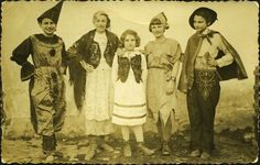 """Trzebinia, Poland, Purim, 1938  From the article: """"throughout history, jews have celebrated purim with parades and parties and costumes. here are some of my favorites from the archives of yad vashem, flickr, the center for jewish history, and various personal photo albums online."""""""
