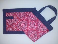 Kit bolsa térmica e lugar americano com porta talher, patchwork!