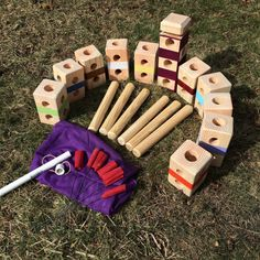 Kubb is an outdoor game played by all ages. Easy to learn and lots of fun to play. 2-12 players. The easiest way to learn how to play is watch youtube