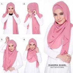 Tutorial Hijab Pashmina Simple - http://hijabtuts.com/