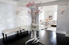 <3 the black wood chevron floors. ivanka trump living room