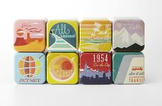 Fossil Travel Poster inspired tins