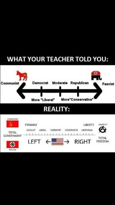 The real political spectrum. TRUTH!!!