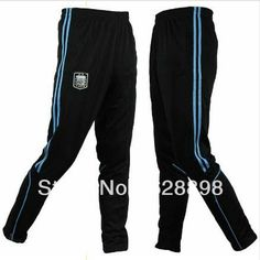 Argentina Skinny tapered soccer training Long Pants sweatpants ,Fashion football Men's Sport Trousers Free Shipping $21.99 Sweatpants Style, Sports Trousers, Soccer Training, Long Pants, Football, Skinny, My Style, How To Wear, Clothes