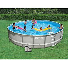 Coleman Power Steel 22 39 X 52 Frame Swimming Pool Set With Filter Pump Ladder Cover And
