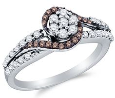 Size 7 – 10K White Gold Chocolate Brown & White Round Diamond Engagement Ring – Channel Set Flower Center Setting Shape (.57 cttw.) by Sonia Jewels - See more at: http://blackdiamondgemstone.com/colored-diamonds/jewelry/wedding-anniversary/engagement-rings/size-7-10k-white-gold-chocolate-brown-white-round-diamond-engagement-ring-channel-set-flower-center-setting-shape-57-cttw-com/#sthash.1xHBD5MQ.dpuf
