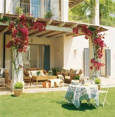 So like my porch in Spain with the most beautiful and my very fav flower... bougainvillea!