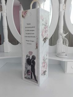 Decoupage Box, Bookends, Boxes, Wedding, Home Decor, Decorated Bottles, Ornaments, Valentines Day Weddings, Crates