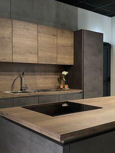 Luxury Kitchen Design, Kitchen Room Design, Interior Design Kitchen, Industrial Chic Kitchen, Industrial Home Design, Hotel Bathroom Design, Casa Loft, Dartmouth, Cuisines Design