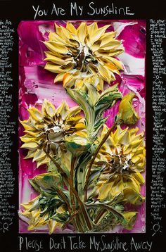 24x36 You Are My Sunshine By: Justin Gaffrey